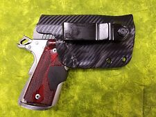 HOLSTER BLACK CARBON KYDEX FITS KIMBER CRIMSON ULTRA CARRY II IWB