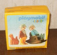 PLAYMOBIL 123 REF : 6631 ROCKING CHAIR ET GRANDS PARENTS VINTAGE 1991