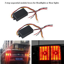2x3-step For Car Headlight/Rear light Turn Signal Sequential Module Boxes System
