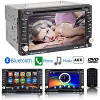 "Bluetooth 6.2"" Double 2Din Touchscreen Car DVD CD Radio Player USB/SD/TV/FM/AM"