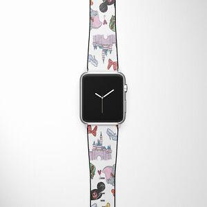 Disney Apple Watch Band SE 44 40 38 42 mm Series 6 5 3 4 2 World Mickey strap