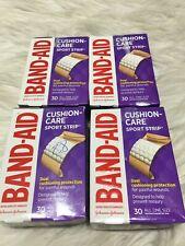 4 Band-Aid Cushion Care Sport Strip 30 1 in x 3 in Neosporin TDW6