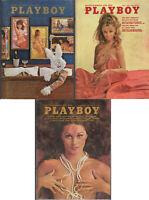 PLAYBOY Lot of 3 from 1970:Fellini Satyricon,Sex In Cinema, Elliot Gould Intvw