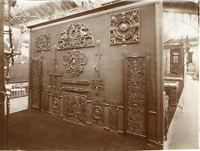 France, Paris, taques de cheminée, accessoires ferronnerie  Vintage albumen prin