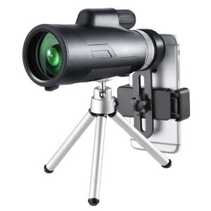 12X50 Monocular Telescope with Tripod for Hiking Bird Watching Hunting Concerts