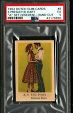 "1952 ELVIS PRESLEY/DELORES HART ROOKIE PSA 5 DUTCH GUM ""A"" SET RARE POP 1/1"