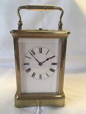 ANTIQUE HENRI JACOT ½ HOUR REPEATING BRASS CARRIAGE CLOCK WORKING ORDER