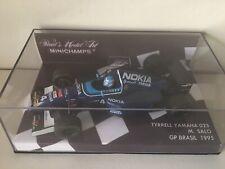 Onyx F1 1/43 Tyrrell Yamaha 023 Mika Salo GP Brazil 1995 Boîtier Box Minichamps