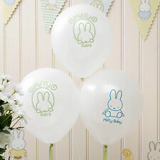 8 Baby Miffy Motif Party Balloons Baby Shower Christening Birthday Celebration