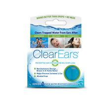 Clear Ears Water Absorbing Earplugs 5 Pairs, for Swimming, Bathing or Showering