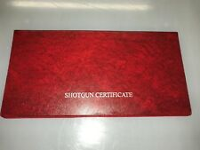 A DOUBLE RED -- FIREARMS CERTIFICATE /LICENCE HOLDER/WALLET - SGC/FAC