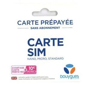CARTE SIM BOUYGUES France Puce Pas Cher Illimité 🌎world Monde Prepayed