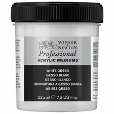 Winsor & Newton Professional White Gesso Primer for Acrylic & Oil 225ml or 450ml