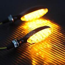 Universal Aluminum Motorcycle Mini LED Turn Signals Indicator Blinker Clear Lens