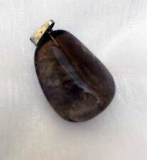 Amethyst Anhänger -lila - mit silberner Stiftöse
