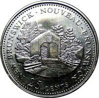 1992 Canada 125th New Brunswick 25 Cents Gem BU UNC Quarter!!