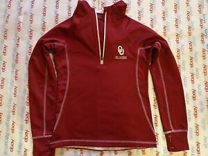 Oklahoma Sooners Colosseum WOMENS Red Full Zip Jacket w/Hood & Thumb Slits Small