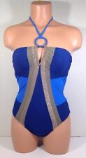 Red Carter Boogie Nights One Piece Swimsuit Royal Size XS NWT $175