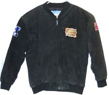 2004 Patriots Super Bowl XVIII 38 Black Suede NFL Jacket XL