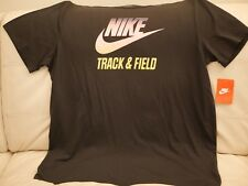 NEW WT MEN'S NIKE TRACK AND FIELD BLACK ATHLETIC T-SHIRT TOP SIZE 2XL 659437 010