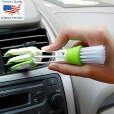 Portable Double End Car Vent Brush Computer Dust Cleaner Window Air Con Blinds