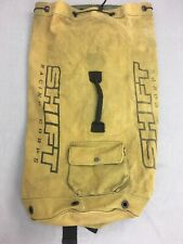 VTG Shift Racing Corps Canvas Rucksack Backpack Camping Hiking Field Bag Used