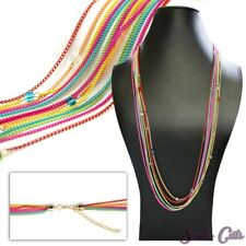 una elegante collar de colores Statement multicolor PERLAS CADENA ESLABONES