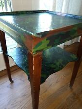 HAND EMBELLISHED CAMOUFLAGE END TABLE
