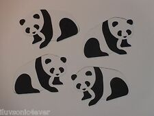 "4 Panda bears 2"" x 2 7/8"" die cuts"