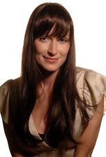 Magnifique ! Femme Perruque Noir Brun Marron Mèches 55cm 9248-2/33