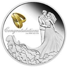 Australien 1 Dollar 2019 Glückwünsche zur Hochzeit 1 Oz Silber PP