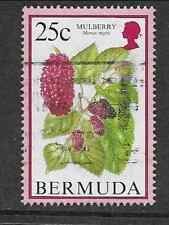 SINGLE USED BERMUDA POSTAGE STAMP - FLOWERING FRUITS MULBERRY - 1994