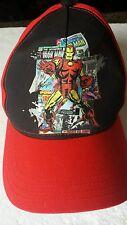 Marvel Comics The Invincible Iron Man Red Baseball Trucker Cap Hat New Velcro