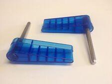 Williams Logo Pinball Clear Light Blue Translucent Flipper Plastics Bats Shafts