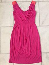 NWOT BODEN Women's Pink Orange Surplice V Back Dress Size UK 6 R US 2 R