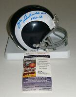 RAMS Zeke Bratkowski signed mini helmet w/ 1961-63 JSA AUTO Autographed Packers