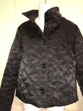 💕LOVE MOSCHINO LIGHTWEIGHT HEART QUILTED BUTTON FRONT BLACK JACKET💕