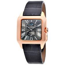 Cartier Santos Dumont Gray Galvanized Flinque Dial Mens Watch W2020068