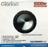 """NEW CLARION WG2520 10"""" WG Series Single Voice Coil, 4 Ohm Car Audio Subwoofer"""