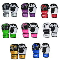 Phenom TS-2 Thunderbolt MMA Sparring Gloves Boxing Hand Wrap Gloves Straps R..