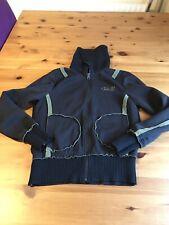 O'neill Black Olive Green Jacket Size L Zip Up Wool Panels Pockets