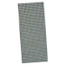 Set of 2 Black & White Gingham Small Check Cotton Dish Towels