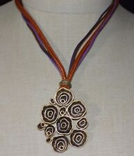 Coldwater Creek NOS Gold Tone Abstract Swirl Multi-Strand Pendant Necklace