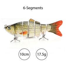 2  Fishing Lure Multi Jointed Hard Baits  6 Segments 4inch size Swim Bait