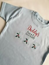T - shirt, embroidered shirt,unisex t-shirt, Embroidery file Daddys little Elf,