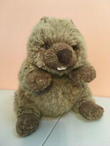 """Bibbers"" Plush Brown Beaver w Buck Teeth & Flat Tail  8"" a GUND Stuffed Animal"