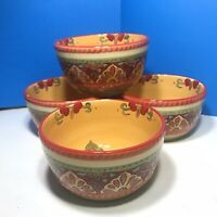 Set of 4 Tabletops Unlimited Espana Life Style Tangier cereal bowls