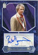 Doctor Who 2015 [Blue][##/50] Autograph Card Peter Davison - 5th Doctor