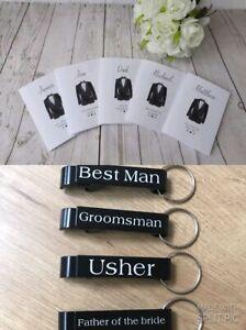 Will you be my Best man - Groomsman - Usher Card & bottle opener keepsake gift