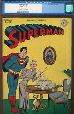 SUPERMAN #43 - LUTHOR STORY - SHUSTER AND BORING ART - NICE CGC 7.0 - 1946